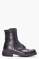 Diesel Black Cassidy Military Boots