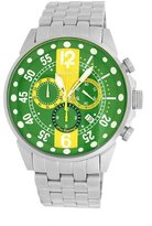 Roberto Bianci Men's 7098m_gre-yel Pro Racing Analog Display Analog Quartz Silver Watch