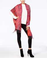 Echo Fall Leaves Jacquard Wrap and Scarf in One