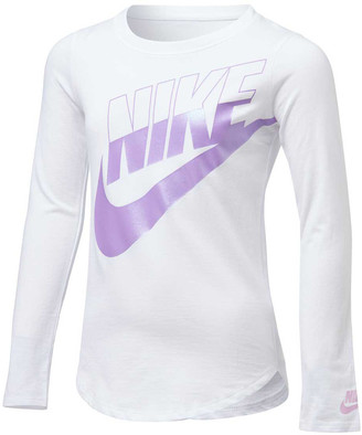 Nike Girls Futura Split Long Sleeve Tee