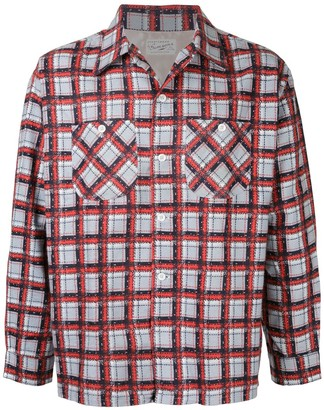 Fake Alpha Vintage 1950s Flannel Shirt
