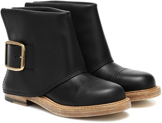 Alexander McQueen Cuff leather ankle boots