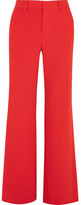 Alice + Olivia Paulette Crepe Wide-leg Pants - Red