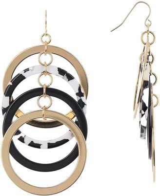 trina Trina Turk Multi Ring Linear Drop Earrings
