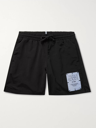 McQ Appliqued Shell Drawstring Shorts