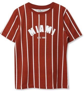 M&Co Miami stripe t-shirt (3yrs-12yrs)