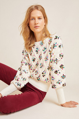 Anthropologie Lara Sequined Sweater