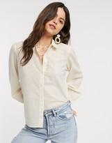 Vero Moda Aware shirt in cream stripe