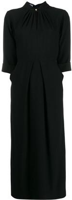 Prada Band Collar Midi Dress