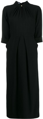 Prada band collar midi dress
