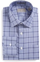 John W. Nordstrom Traditional Fit Non-Iron Plaid Dress Shirt