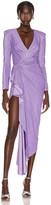 Redemption Draped Long Dress in Purple   FWRD