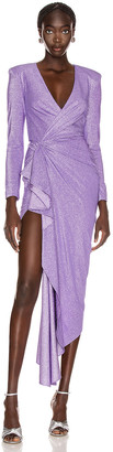 Redemption Draped Long Dress in Purple | FWRD