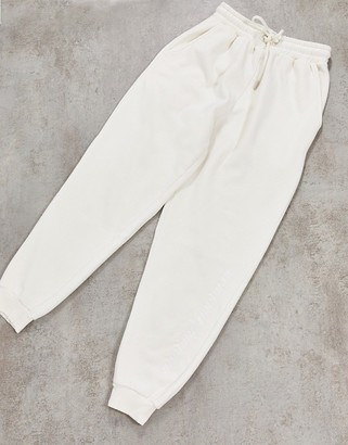 Criminal Damage joggers in off white
