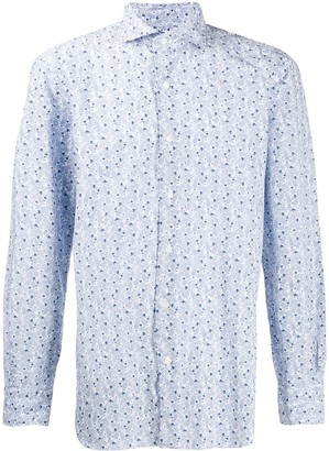 Barba Leaf Printed Shirt