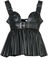 Givenchy faux leather pleated bustier