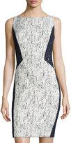 Lafayette 148 New York Deana Textured Sleeveless Sheath Dress, Ink/Multi
