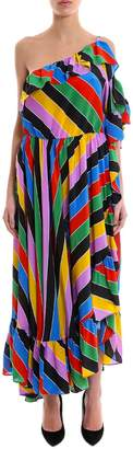 Philosophy di Lorenzo Serafini Striped Ruffle Maxi Dress