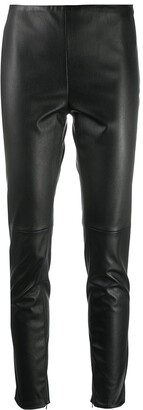 Ralph Lauren Collection Eleanora leather trousers