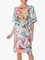 Gina Bacconi Rumina Floral Tie Belt Scuba Dress, Multi