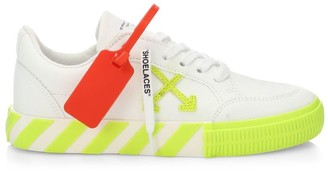 Off-White Off White Arrow Low-Top Neon Canvas Sneakers