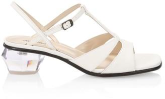 Marc Jacobs The Gem Leather T-Strap Sandals