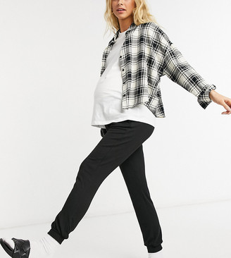 ASOS DESIGN Maternity supersoft slim leg jogger in black