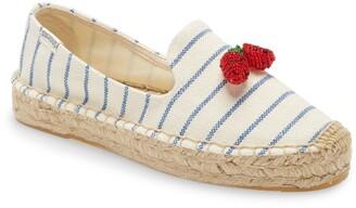 Soludos Strawberry Stripes Platform Espadrille