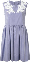 P.A.R.O.S.H. embroidered flared dress - women - Cotton - XS