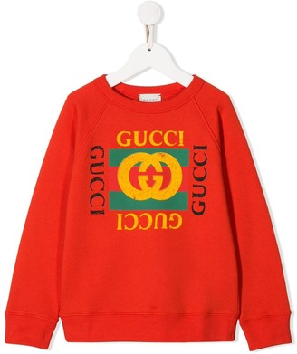 Gucci Kids Logo Detail Sweatshirt