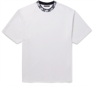 Acne Studios Oversized Jacquard-Trimmed Stretch-Jersey T-Shirt