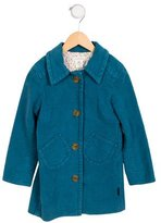 Little Marc Jacobs Girls' Collared Knee-Length Coat w/ Tags