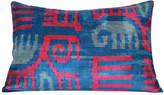 Orientalist Home Gaby Ikat 16x24 Pillow - Blue