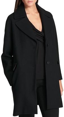 DKNY Notch-Lapel Wool-Blend Coat