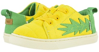 TOMS Kids Lenny Elastic (Toddler/Little Kid) (Gold Pineapple Quilted Microsuede) Kid's Shoes