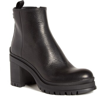 Prada Lug Sole Leather Bootie