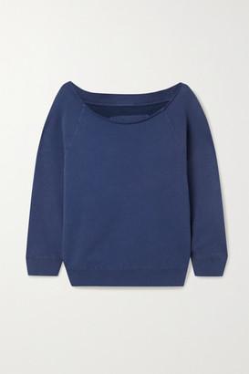 Nili Lotan Luka Cotton-jersey Sweatshirt - Blue