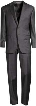 Canali Classic-Fit Glencheck Wool Suit