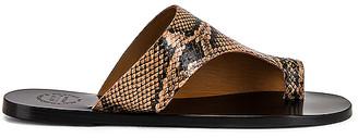 ATP ATELIER Rosa Printed Snake Sandal