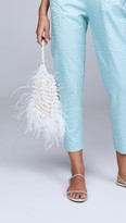 Cult Gaia Dory Feathered Pouch