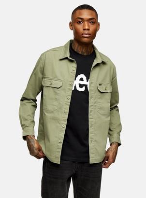 Topman LEE JEANS Lichen Green Stone Utility Style Overshirt