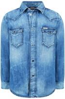 Diesel Boys Blue Denim Citros Shirt
