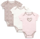 Little Me Infant Girls' Baby Leopard Bodysuit 3 Pack - Sizes Newborn-9 Months
