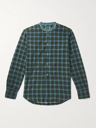 Massimo Alba Kos Checked Cotton-Twill Half-Placket Shirt