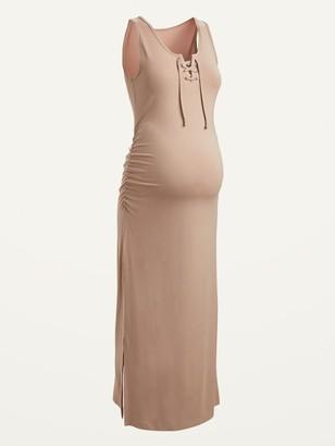 Old Navy Maternity Sleeveless Lace-Up Maxi Dress