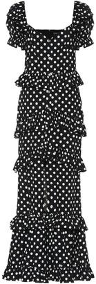 Caroline Constas Iva polka-dot stretch-cotton dress