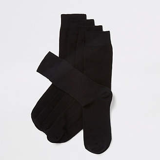 River Island Black socks 5 pack