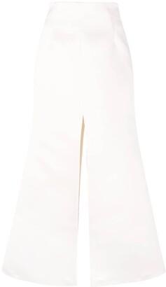 A.W.A.K.E. Mode High-Waisted Slit-Detail Skirt