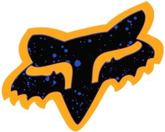 """Fox Men's Splatter-4"""" Sticker"""