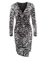 Hale Bob Womens Dress, Wild Emy Zebra Print Dress
